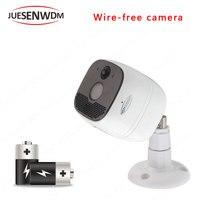 Juesenwdm Батарея Камера IP Камера 1080 P poe Wi Fi Камера Беспроводной Wi Fi Ночное видение 2.0MP HD CCTV IP66 Водонепроницаемый Открытый