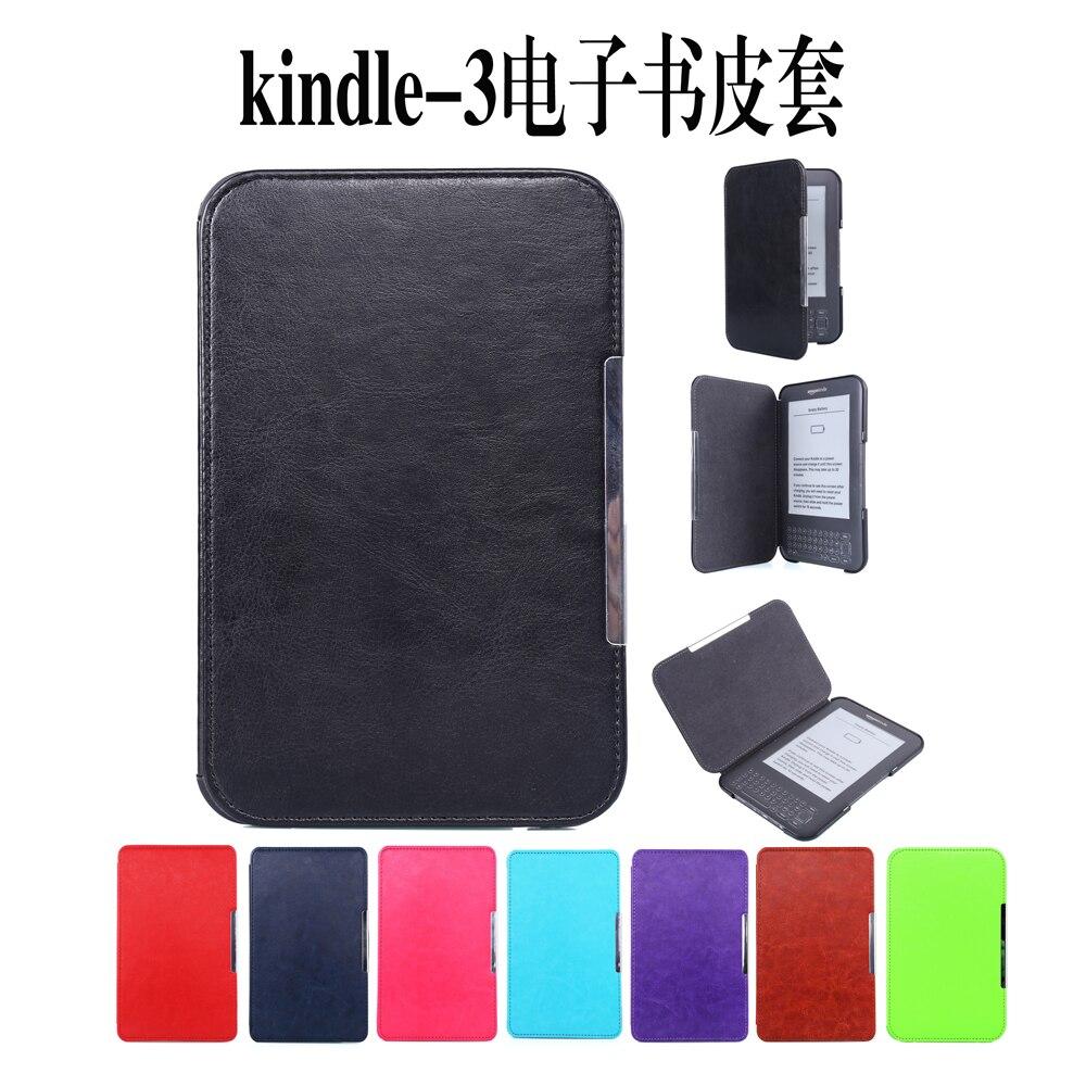 Flip Book case for Amazon Kindle 3 3rd Gen Ereader leather