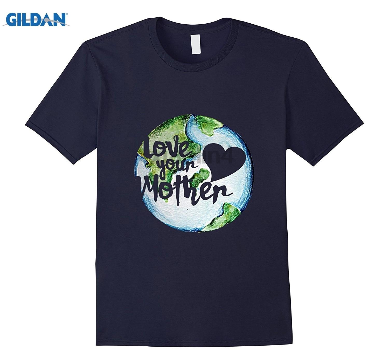 GILDAN Love your mother earth day 2017 tshirt Original Printed Short Sleeve Top Hot Womens T-shirt