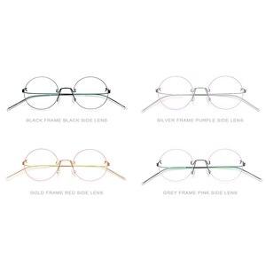 Image 5 - FONEX bezśrubowe okulary okulary korekcyjne kobiety bez oprawek okrągłe krótkowzroczność optyczne koreański tytanu okulary z lekkiego stopu rama mężczyźni 98620
