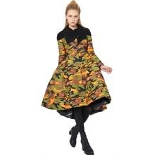 Winter stylish originality modeling design large hemline slim attractively thin girls down coat womens Jacket 80988-1