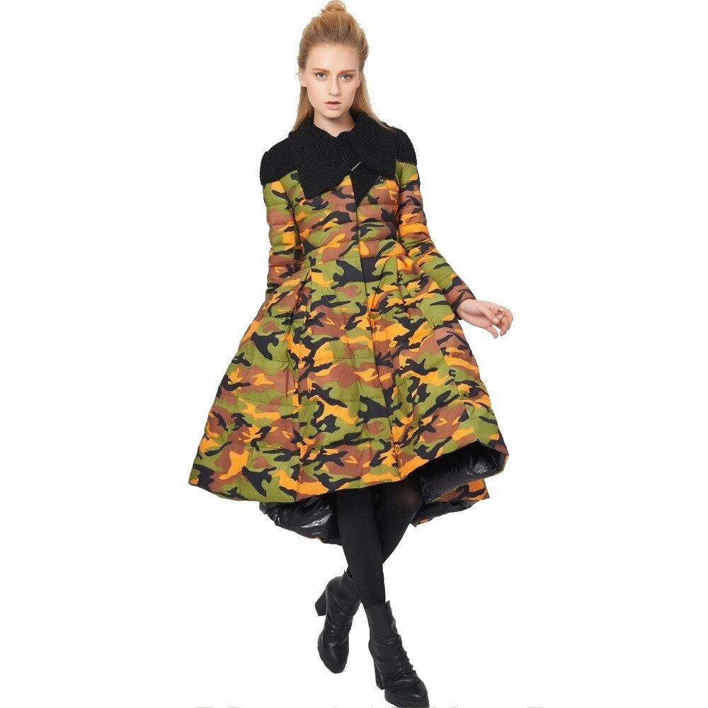 Winter stylish originality modeling design large hemline slim attractively thin girl's down coat women's down Jacket 80988-1