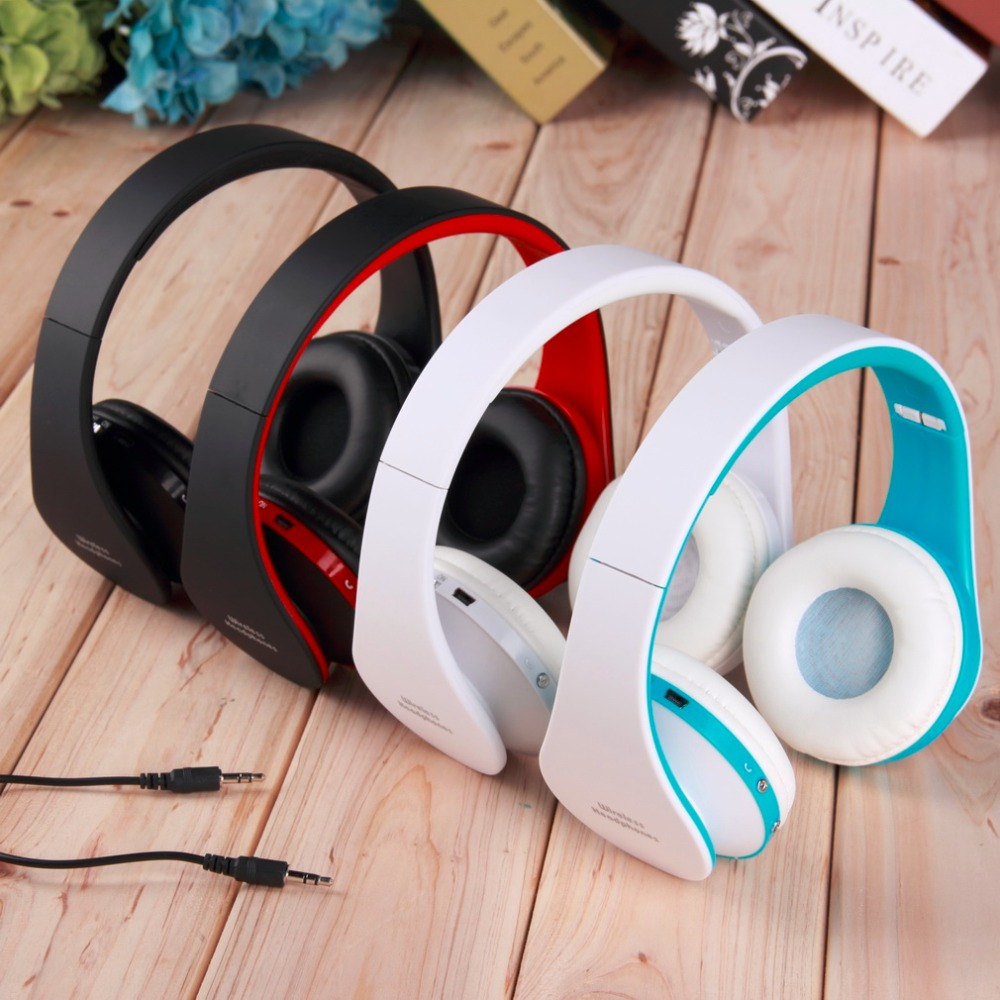 Foldable Headset Wireless Stereo Bluetooth Headset Earphone Headphone For iPhone Cellphone Phone PC Laptop Portable Media Player