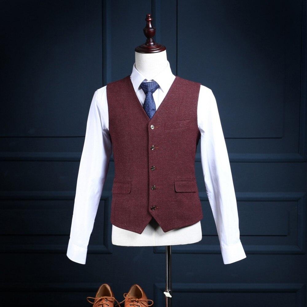 2017 trajes para hombre Groomsman Groom Tuxedos por encargo El mejor - Ropa de hombre - foto 3
