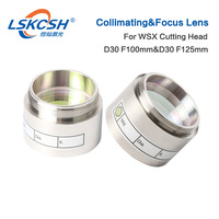 LSKCSH Fiber Laser Focus Lens D30 F100 F125mm with Lens Holder for Raytools Laser Cutting Head BT240 BT240S 0 4000W factory