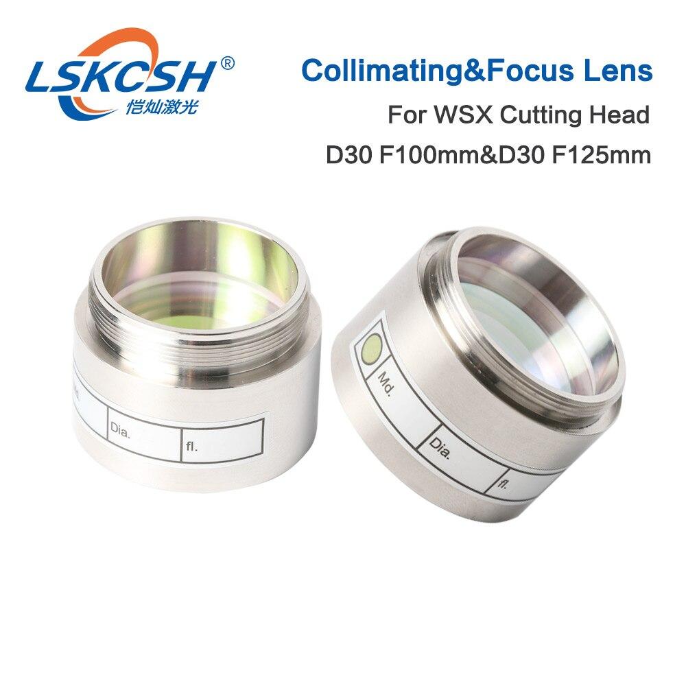 Lentille de mise au point Laser LSKCSH Fiber D30 F100 F125mm avec support d'objectif pour Raytools tête de découpe Laser BT240 BT240S 0-4000W usine