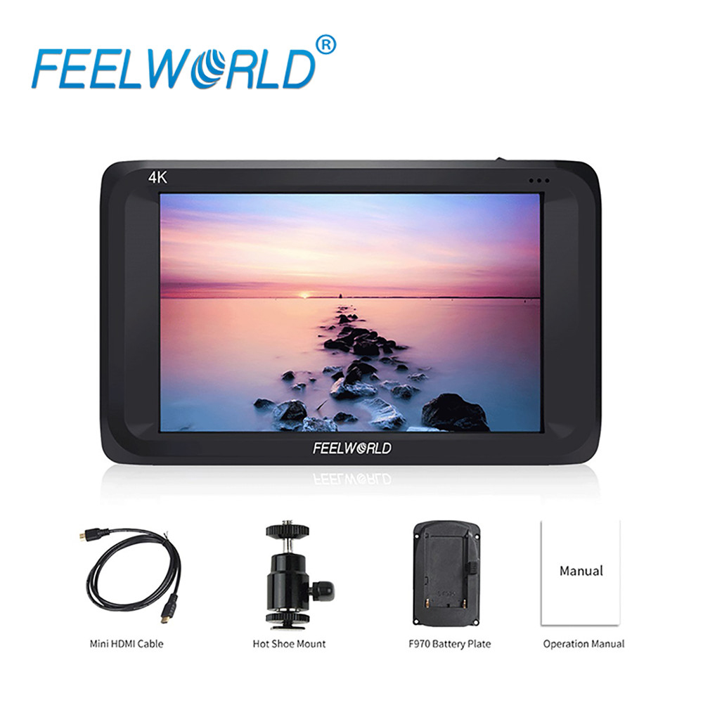 Feelworld S450-M 4.5 Inch IPS 4K HDMI 3G-SDI On-camera Field Monitor 4.5 1280x800 Camera External LCD Monitor with PeakingFocus f450 4 5 inch ips 1280x800 hd 4k field lcd camera monitor with hdmi input output uhd peaking focus and other monitor accessory