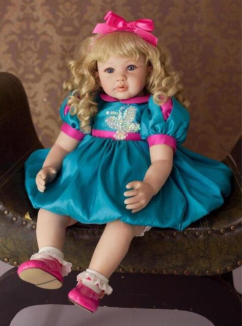 New 22 Quot Adora Reborn Toddler Doll Golden Curly Hair High