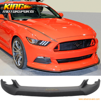 FOR 15 16 Ford Mustang Front Bumper Lip Unpainted Black PU Poly Urethane