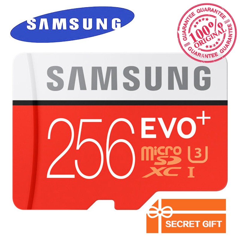 SAMSUNG Memory Card EVO Plus MicroSD Trans Flash Card 256GB Class10 TF Card C10 95MB/s SDXC UHS-I U3 For Smartphone, Tablet, etc original samsung micro sd card memory card evo plus 32gb class10 tf card c10 sdhc sdxc uhs i for huawei p8 p9 p10 smartphone