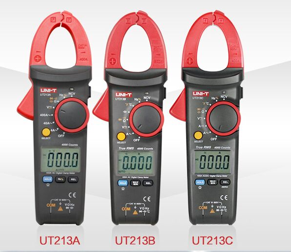 UNI-T UT213A UT213B UT213C Digital Clamp Meters LCD True RMS Ammeter Resistance Capacitance Frequency Temperature Test NCV Meter my68 handheld auto range digital multimeter dmm w capacitance frequency
