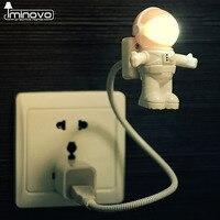 IMINOVO Astronauta USB Lampki Nocne Oświetlenie LED Lampy Biurko Mini Dla Pitna Czytanie Książki Komputer Laptop PC Elastyczne Spaceman