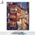 DIY Раскраска по номерам городские уличные Пейзажи Картины по номерам с комплектами 40x50 в рамке