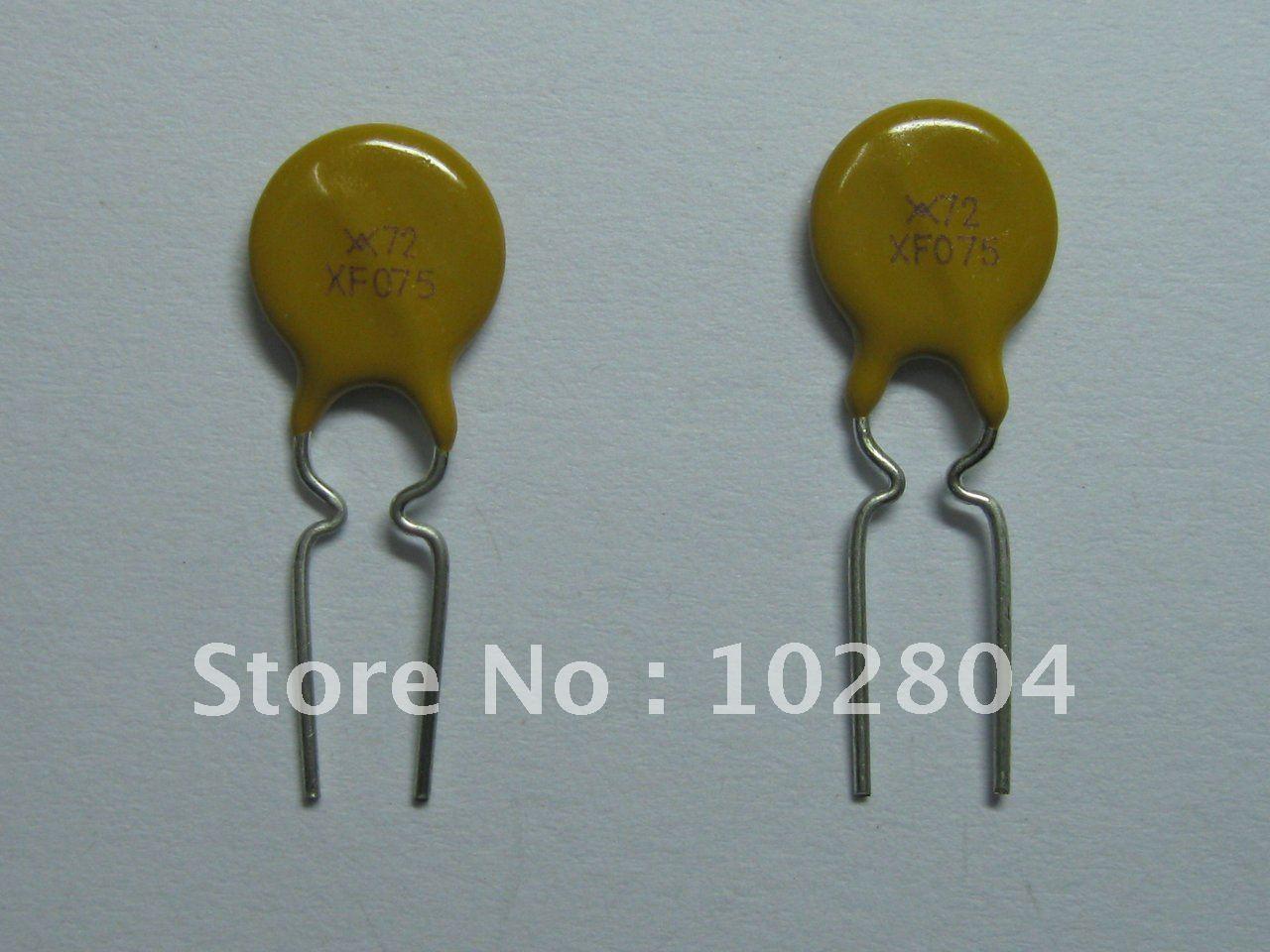 1000 шт. 72 в 0.75A полипереключатель радиальный этилированный PPTC сбрасываемый предохранитель