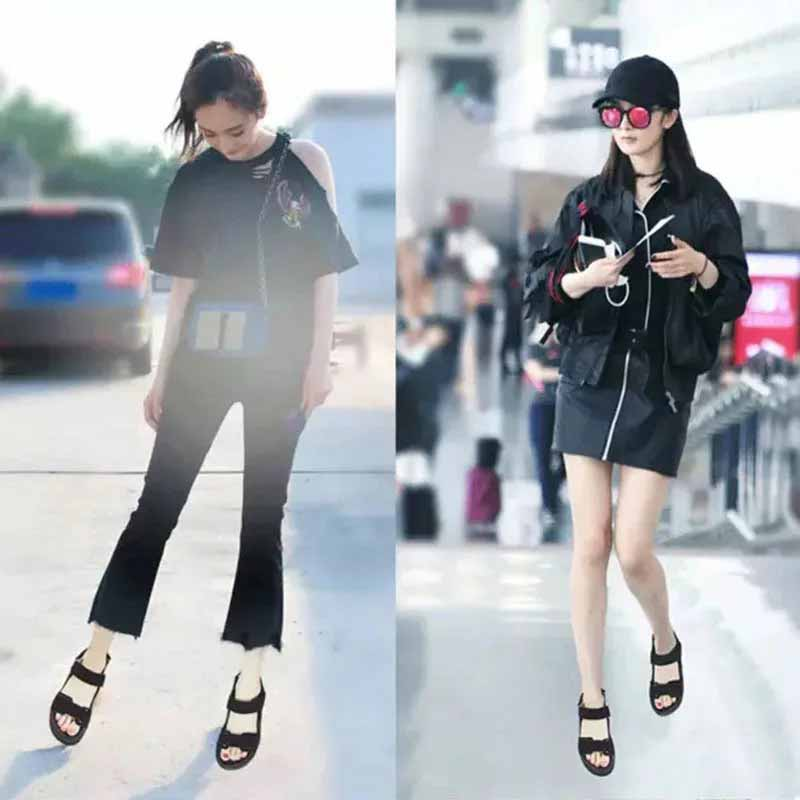 Women shoes adult solid sandals women 2019 fashion med heel height women sandals flat with casual shoes woman sandals female  (20)