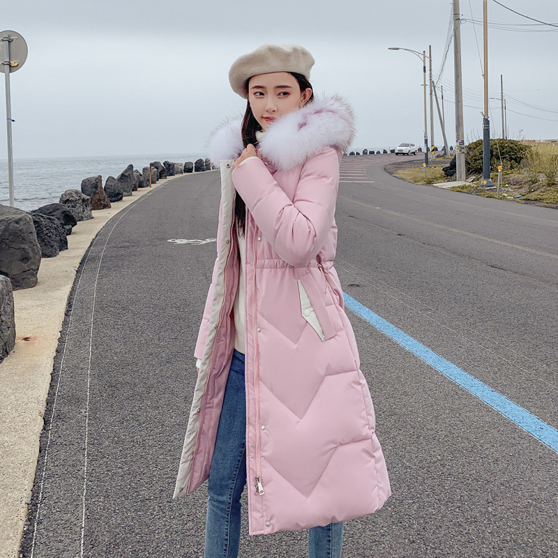 Long   Parkas   Winter Jacket Women Plus Size 2019 New Fur collar Womens Down Cotton Coat Thick Hooded Winter jackets Female A2887