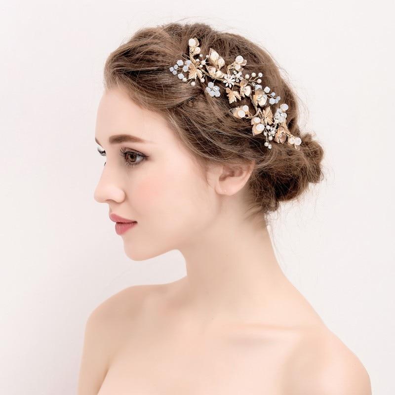Jonnafe Boho Золотий лист Волосся - Модні прикраси - фото 3