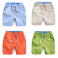2016 Summer New Boys Pants Fashion Casual Cotton Children's Clothing Linen Shorts Kids Baby Boy Shorts Yellow Beige Blue Green