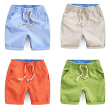 2016 Summer New Boys Pants Fashion Casual Cotton Children s Clothing Linen Shorts Kids Baby Boy