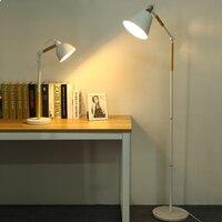 Morden Designer Floor Lamps For Living Room Wood Metal Arm Bedroom Staanlampen Home Lambader Nordic Standing Lamp 110 240V