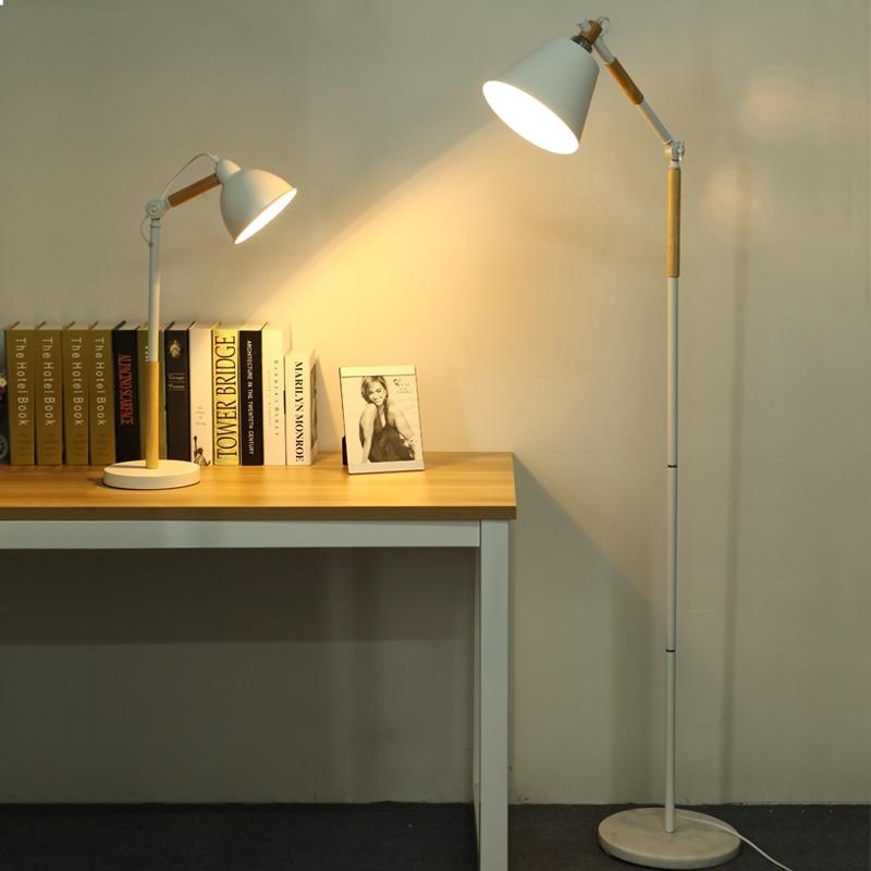 Morden Designer Floor Lamps For Living Room Wood Metal Arm Bedroom  Staanlampen Home Lambader Nordic Standing
