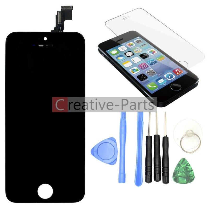 imágenes para LCD Original Para el iphone 5c Color Negro Con Kits de Herramientas Y Protector de la Pantalla de Montaje Del Digitizador de la Pantalla Táctil de Cristal