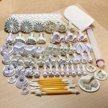 68 teile/satz Sugarcraft Fondant Plunger Cutters Werkzeuge Form Cookies volle satz mold