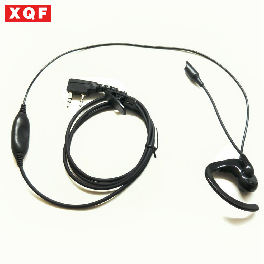 XQF Ear Hook Earphone Earpiece With Microphone For BAOFENG UV-5R For Kenwood TK-3107 Two Way Radio
