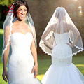 Romantic White Ivory Short Wedding Veils with Comb Bridal Veil veu de noiva longo Wedding Decoration Wedding Accessories