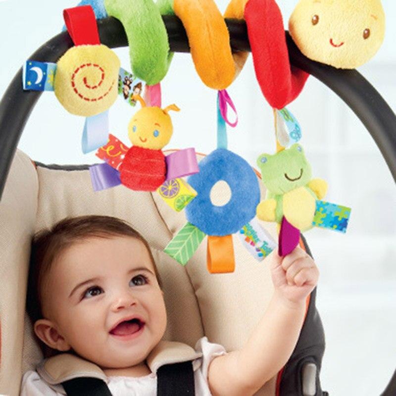 Baby Mobile Crib Music Toy Kid Crib Cot Pram Ringing Bed Bells Spiral Rattles Toys M09