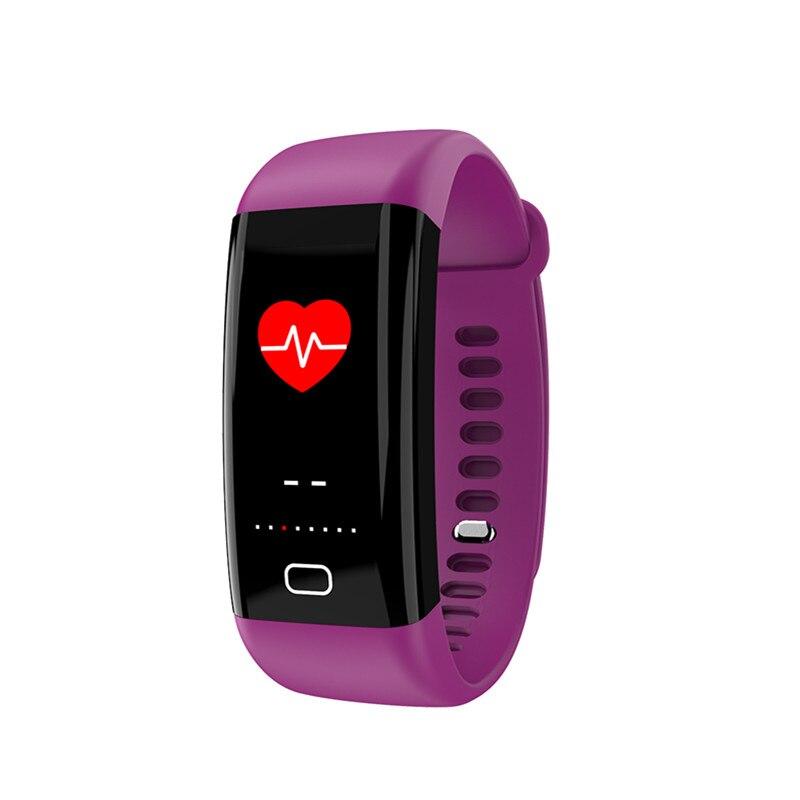 Цвет Экран Смарт Браслет IP68 Водонепроницаемый Плавание Пульс монитор сердечного ритма Smartband с кровью Давление измерения подключения