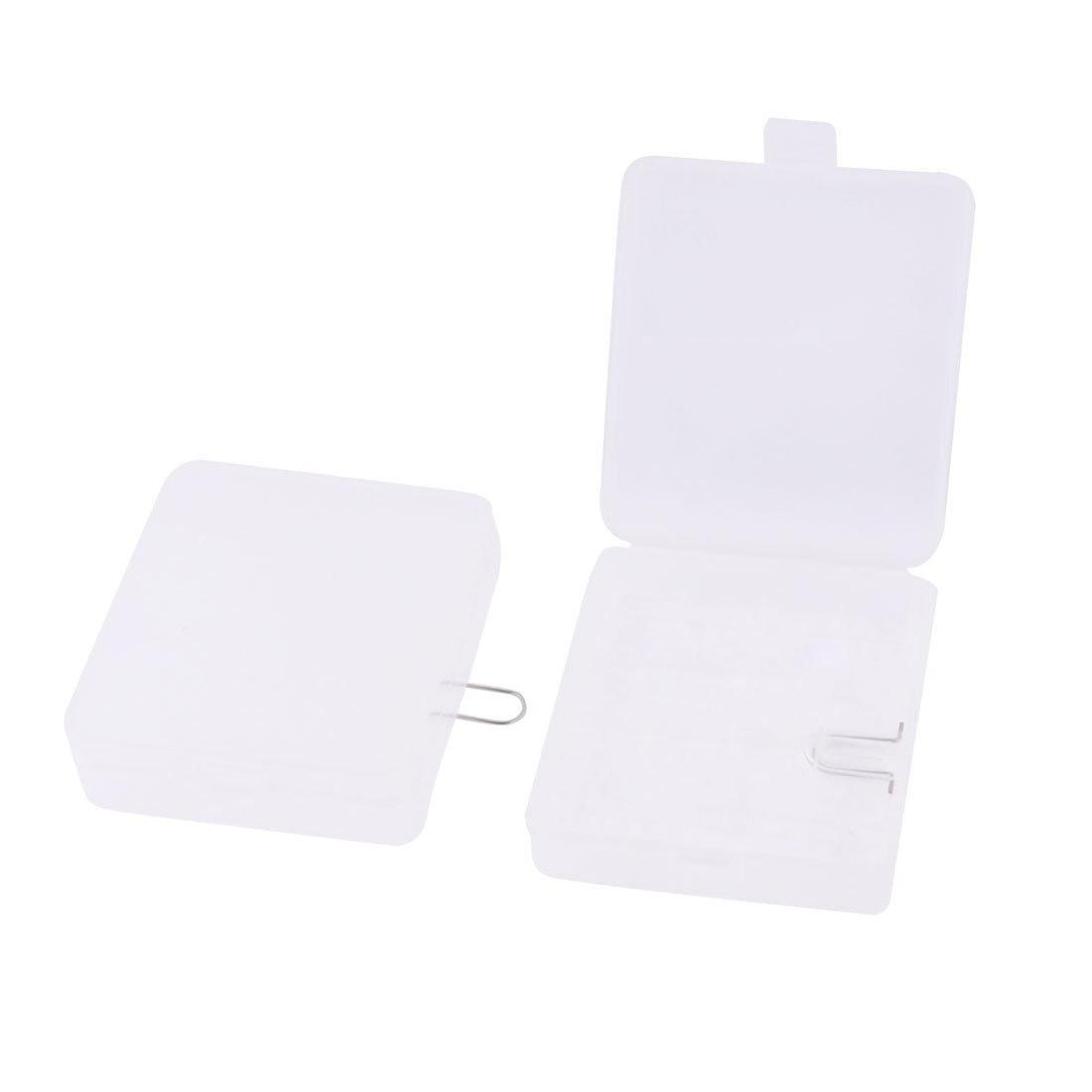 HGHO-2 Pcs Clear White Plastic Storage Box Case for 4 x <font><b>18650</b></font> <font><b>Batteries</b></font>