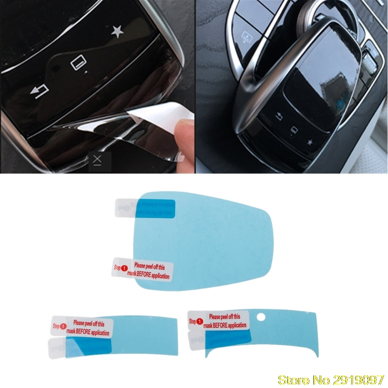 New Arrive 3x Center Console Mouse Touch Protective Film For Mercedes Benz C E S V GLC GLE Drop Shipping Support
