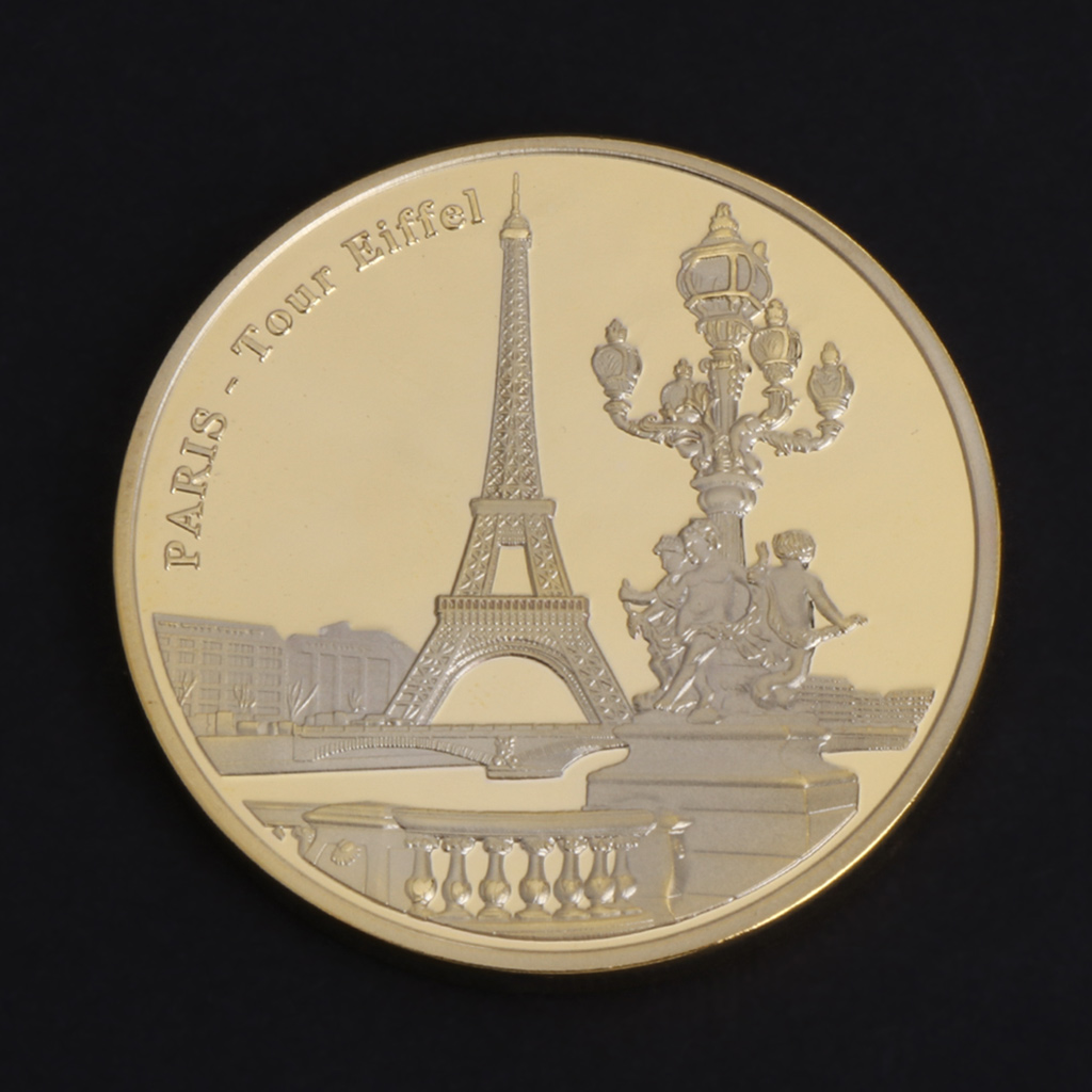 Commemorative Coin Paris Tower Building Collection Arts Gifts Bitcoin Alloy BTC