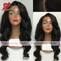 2016 Wholesale 7A Synthetic Lace Front Wigs Heat Resistant Body Wave Hair Wig Black Color Hair Front Lace Wigs For Fashion Women