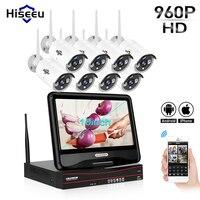 10 Inch Displayer 4CH 720P 960P Wireless CCTV System Wireless NVR IP Camera IR CUT Bullet