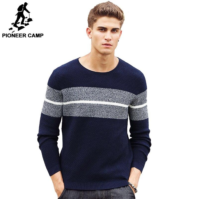 Пионерский лагерь повседневная полосатый свитер брендовая мужская одежда пуловер мужчины модные дизайнерские свитера для мужчин 611201