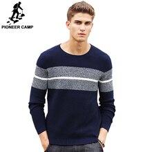 パイオニアキャンプカジュアルなストライプのセーター男性ブランド服プルオーバー男性ファッションデザイナーセーター男性のための 611201