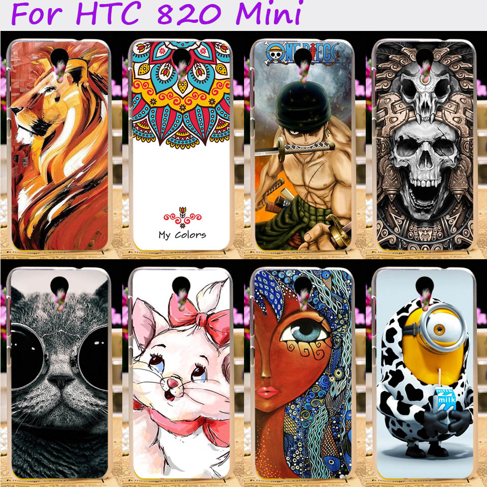 Hard Plastic&Soft TPU Phone Cover For HTC Desire 620G HTC Desire 820 Mini D820mu Dual Sim Cases Cool Skull Cute Minions