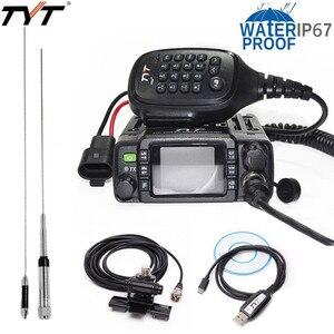 Image 1 - TYT TH 8600 IP67 Wasserdicht Dual Band 136 174MHz/400 480MHz 25W Auto Radio HAM mobile Radio mit Antenne, clip Montieren, USB Kabel