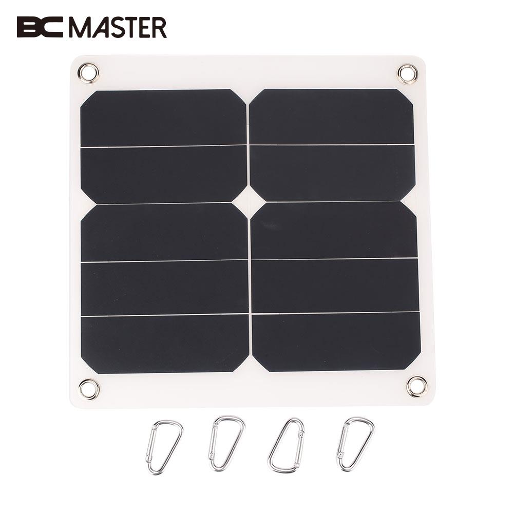 BCMaster Portable 10W 5V Solar Power Panel Solar Cells Solar Panel Bank External Mobile Cell Phone Battery with USB Port