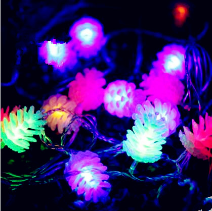 New Year Pinecones LED Cristmas Lights Outdoor 10M LED String Fairy Lights Christmas Garlands Decoration Luces De Navidad