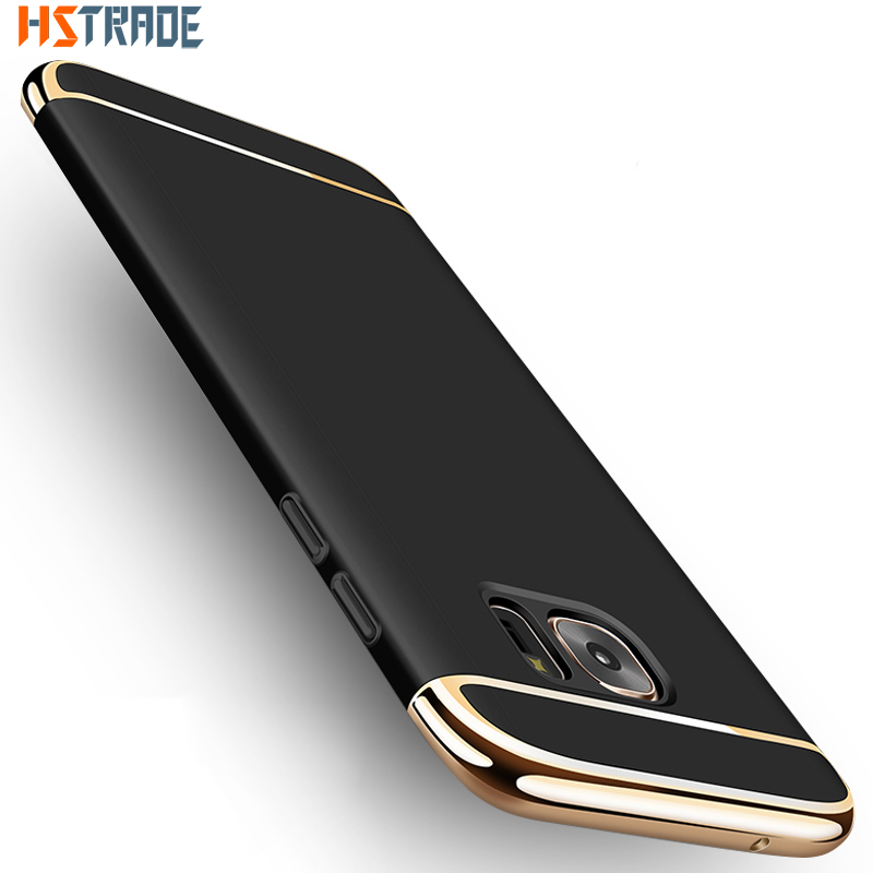 For Samsung S8 S8 plus Case HSTRADE Luxury Plating Anti-Knock Plastic Phone Protective For Samsung Galaxy S7 S7 edge Case