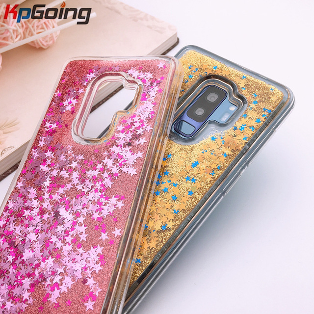 KpGoing Dynamic Liquid Glitter Silicone Cover Phone Case For Samsung Galaxy S9 Plus PC + TPU Case For Samsung Galaxy Note 8 Capa