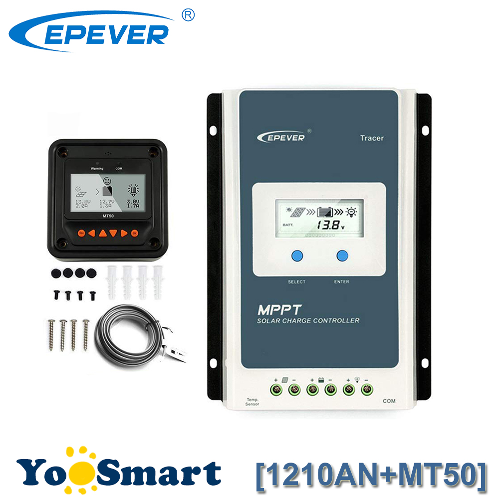 все цены на New EPsloar MPPT 10A Solar Charge Controller 12V 24V with MT50 Diaplay EPEVER TRACER Solar Charge Regulator 1210AN онлайн