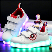 KKABBYII Usb Charging Kid Shoes Glowing Sneakers LED Slippers With Light Up Boys Shoes Infant Tenis