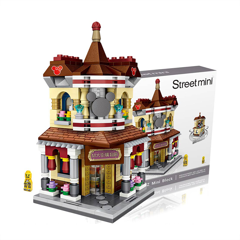 LOZ Mini Block City <font><b>Building</b></font> Blocks Creator Shopping Gallery <font><b>Models</b></font> <font><b>Kits</b></font> Toys Hobbies Bricks Assembly Toys for Children DIY 1632 image