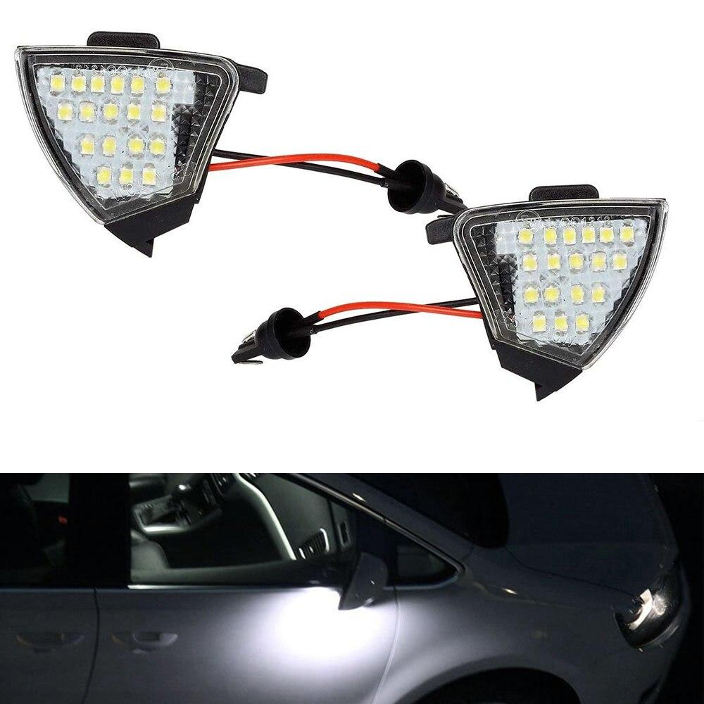 2pcs Error Free Led Under Side Mirror Light Puddle Lamp