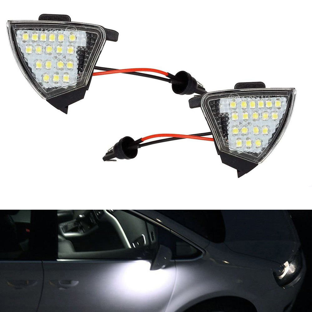 05-10 VW Jetta Power Heated Puddle Lamp w//Signal Mirror Left Right Side SET PAIR