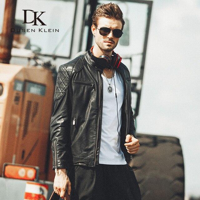 Abrigos de piel de Oveja para los hombres de la marca de lujo 2016 chaqueta de la motocicleta slim fit chaquetas de cuero para hombre casual chaqueta 15L1450
